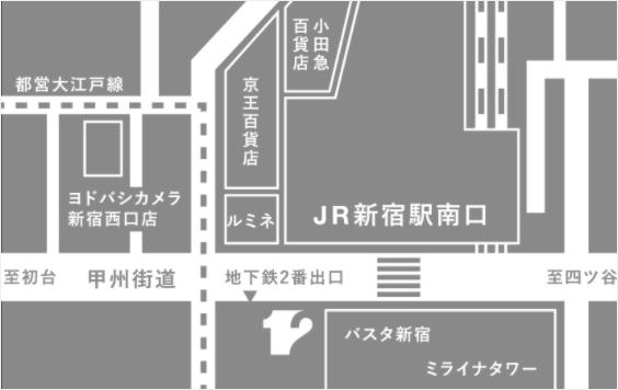 12SHINJUKUアクセスマップ